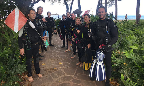 Certified Group of Divers